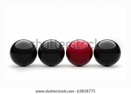 Red sphere - this is a 3d render illustration - stock photo