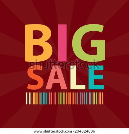 Red Square Big Sale Poster, Banner, Leaflet, Brochure or Handbill Isolated on White Background
