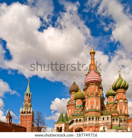 Red square (kremlin and basil the blessed church), moscow, russia