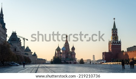 Red Square,russia, moscow, St. Basil's, Cathedral, Spasskaya Tower, Soviet, Borovitskaya, Pokrovsk, trade, row, Moskvoretsk, monument, kremlin, architecture, history, famous, capital, old, center