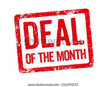 Red Stamp - Deal of the month - stock photo