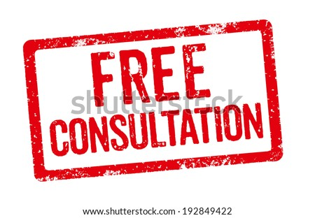 Red Stamp - Free Consultation - stock photo