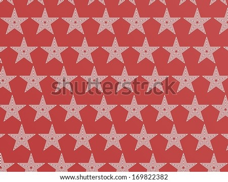 Red star pattern