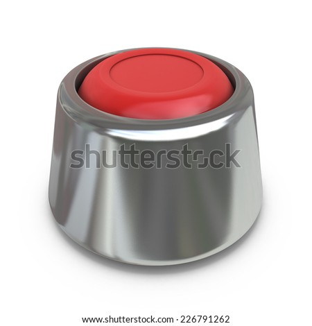 Red start button - stock photo