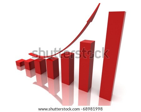 red stock chart