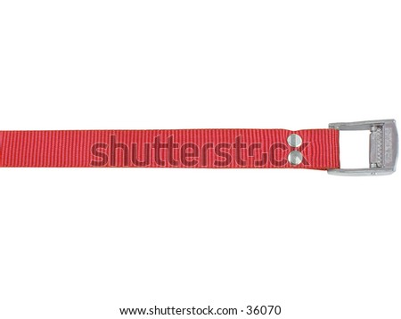 Red strap  - stock photo