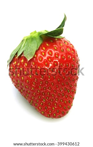 Red strawberry strawberry isolated on white background - stock photo
