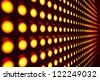 Red stretch of LED lights - stock photo