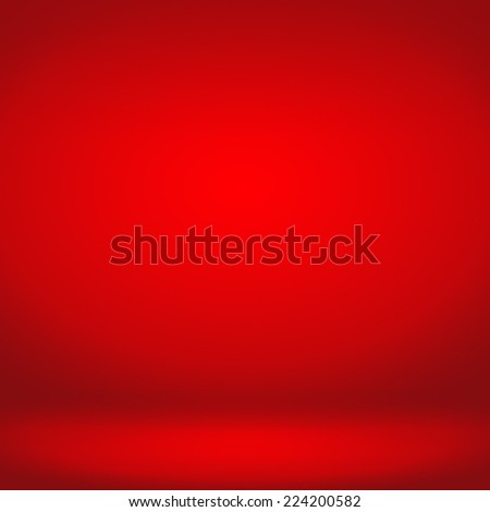 Red studio room background,Background for adding your content - stock photo