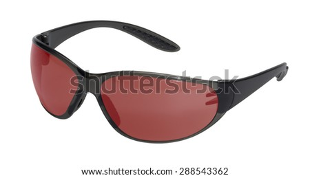 red sunglasses in white back