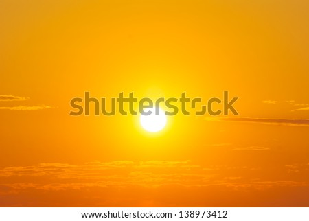 red sunset background - stock photo