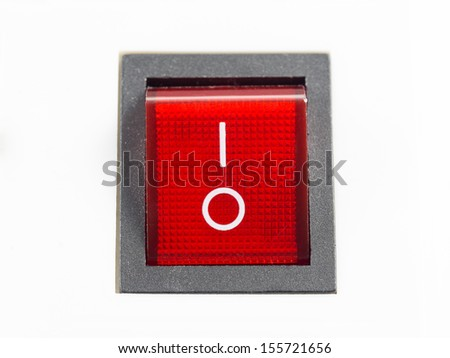 Red switch in the off position