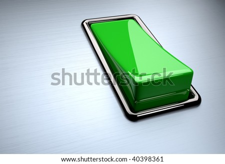 Red switch on white background - 3d render - stock photo