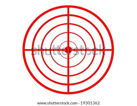 Red target on white background - stock photo