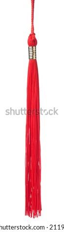 red tassel  - stock photo