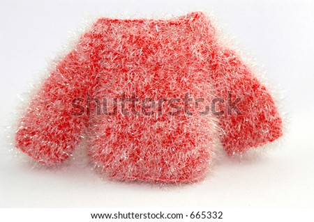 Red Teddy Bear Sweater - stock photo