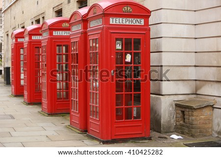 Red Telephone Boxes in Covent Garden, London