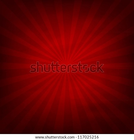 Red Texture Background With Sunburst - stock photo