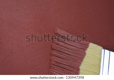 Red Textured Paint And Brush