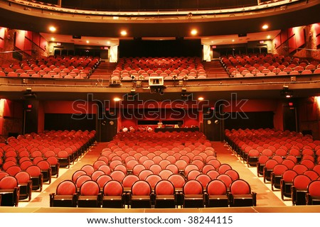 Red theater - stock photo