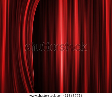 Red Theater Curtain Backdrop