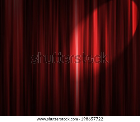 Red Theater Curtain Spotlight Backdrop