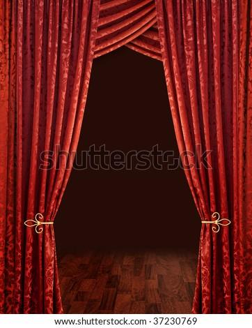 Curtains Ideas curtains background : Purple Silky Satin Curtains Drapery Background Stock Illustration ...