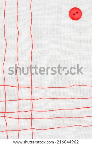 red thread - stock photo