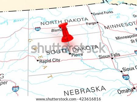 South Dakota Map Stock Images RoyaltyFree Images Vectors - Usa map south dakota