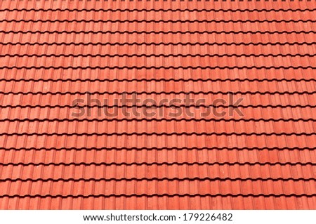 red tiles roof for background. - stock photo