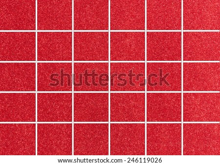 Red Tiles. Seamless Tileable Texture. - stock photo