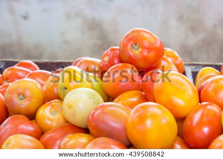 red tomato in market