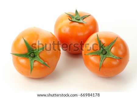 Red Tomato on white background
