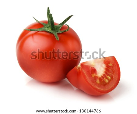 Cut Tomato Drawing Red Tomato Vegetable With Cut