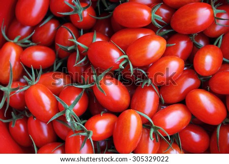 Red tomatoes background (group of tomatoes)  - stock photo