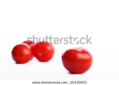 Red tomatos leadership - stock photo