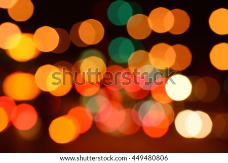 Red tone blur bokeh light background.