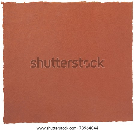Red torn paper page isolated on white background - stock photo