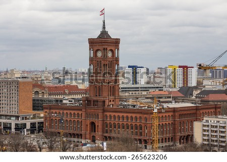 red townhall berlin germany - stock photo