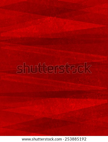 red triangles on grunge textured background, abstract design - stock photo