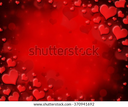 Red Valentine's day background with bokeh lights  - stock photo