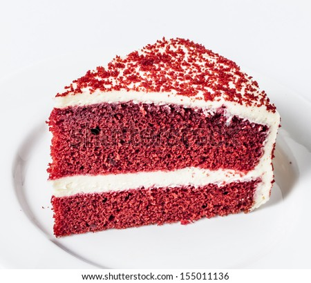 Red Velvet Chocolate Cake - stock photo