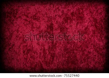 Red Velvet-like Fabric - stock photo