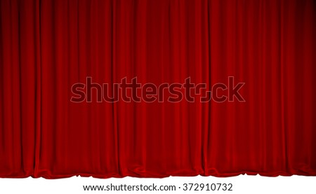 red velvet stage curtain the curtain has nice drapes and isolated on white