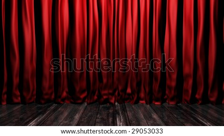 Red Velvet Stage Curtains Stage Floor Stock Illustration 29053033 ...