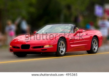 Red 'Vette - stock photo