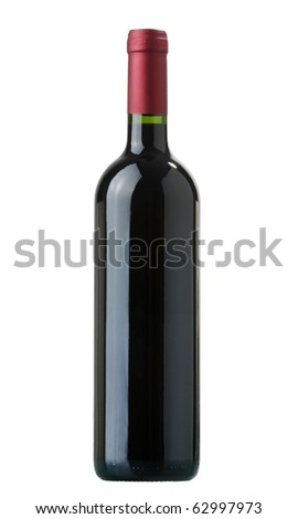 red vine bottle without label