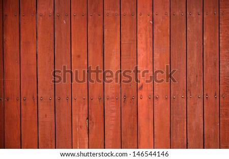 Red wall wood - stock photo