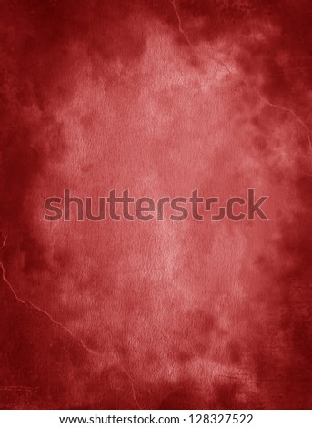 red watercolor background - stock photo