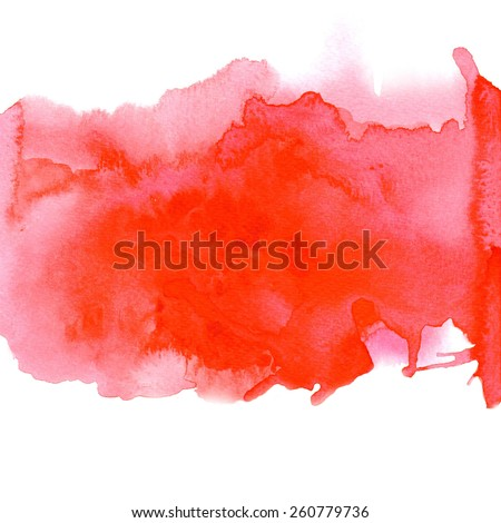 Red watercolor background for textures and backgrounds - stock photo